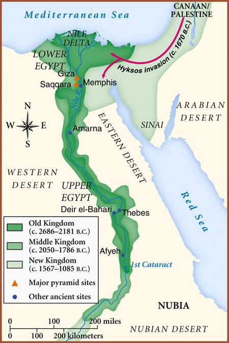 Maps Of Ancient Egypt